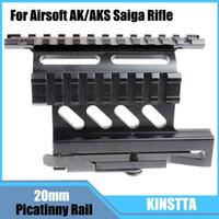 aks rifle - KINSTTA Quick Release Side Laser Scope Sight Mount W Dual Picatinny Rail For Airsoft AK AKS Saiga Rifle