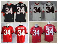 Wholesale 2016 New Herchel Walker America College Alumni Football Throwback Jersey Men Red Jerseys M XXXL