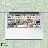Wholesale Flower Clumps Laptop Skin Decals Keyboard Skin Cover Decal Sticker Protector for Macbook Pro Air Inches