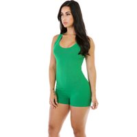 american apparel bodysuit - Women Summer Bodysuit Rompers Womens Jumpsuit Sexy Backless Green Shorts Bodycon Jumpsuits American Apparel combinaison femme