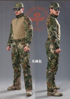 Wholesale Men Snake Camouflage Uniform Army Equipment Tactical Combat Set Airsoft Suit Pants Shirt Hunting Clothes Pantingball