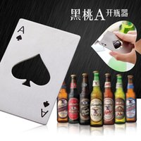 Wholesale Stylish Poker Playing Card Ace of Spades Bar Tool Soda Beer Bottle Cap Opener Gift
