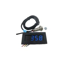Wholesale Hall Proximity Switch Sensor NPN LED Tachometer RPM Speed Meter Blue Digital