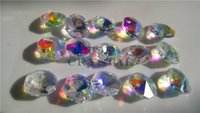 Wholesale 100Pcs MM AB Color beauty Glass Crystal chandelier crystal Octagon Beads In Hole Holes Freeshipping