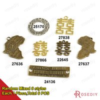 barcode word - Vintage Chinese word Barcode Map Charms Pendants Diy Findings for Jewelry Necklace or Bracelets Making Random mixed style
