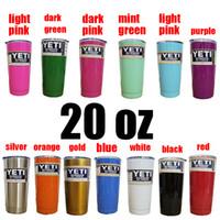 Wholesale Color Beer Mug oz Yeti Cups Vacuum cup Yeti Rambler YETI Coolers Rambler Tumbler Double Walled Travel Mug YETI By DHL