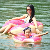 Wholesale Manufacturer of spot donuts cm adult swim ring super sized thickening inflatable buoy swimming laps