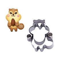 baking item - Lovely Squirrel Cookie Press Biscuit Pastry Press Cutter Stainless Steel Baking Craft Fondant Cutter Kitchen Items