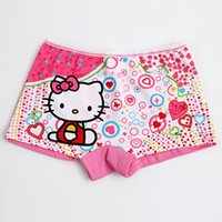 Wholesale DHL free shippping hello kitty underwear Classic hot style female baby cotton children s boxer shorts cartoon underwear students