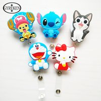 american identity - Silicone card case holder Bank Credit Card Holders Card Bus ID Holders Identity Badge with Cartoon Retractable Reel