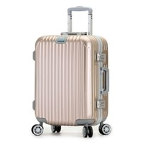 aluminum business trolley - inch High grade Business trolley aluminum frame women luggage box men suitcase caster password boarding travel bag colors