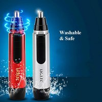 aa battery pack - red silver color nose hair trimmer remover AA battery power water proof mute design color box packing
