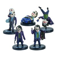 Wholesale sets Batman The Joker PVC Action Figure Collection Toy Keychain or Model Toy set quot about cm
