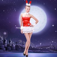 queen size sexy lingerie - DHL Lace bunny sexy lingerie Costumes Cosplay quintessential queen nightclub stage hotel into the red rabbit uniforms