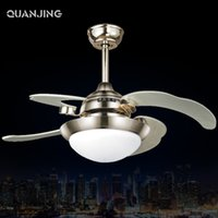 Wholesale 2016 Real Golden Luxury Ceiling Fans For Kids Living Decorativo Techo Luz Remote Control Leaf Glass Leaves Fan