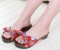 geta - Factory Direct Sale Summer Women Sandals Traditional Geta Candlenut Beach Clogs Wooden Beach Slippers Sandals Flat Heel Flip Flops