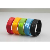 Wholesale New Sports Bracelet LED Display Running Pedometer Multifunctional Smart Bracelet Silicone Watch W2 For Windows Mobile Platform