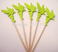 baby food cheap - cheap Tinker bell Party Picks Cupcake Toppers Toothpicks Food Picks wedding baby shower birthday party favors