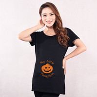 Wholesale Funny Pumpkin pregnancy woman Tee Halloween My Little Pumpkin Maternity Dress Pregnant cloths clothing Cotton holiday gift top colors