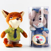 big records - NEW can speak electric recording voice Zootopia fox Nick rabbit Judy electric recording walking doll plush toys gift