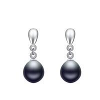 Wholesale Fashion Pearl Jewelry For Women Natural Freshwater Cultured Drop Pearl Earrings silver Hoops AAA Peacock Earrings