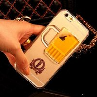 beer models - TPU Hot sale Beer Cup Liquid Transparent Case Cover For Apple iPhone G G S Plus All Models Phone Cases Back Covers