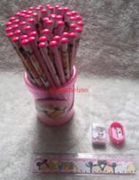 Wholesale New Sale Box Tsum pencils Cartoon pencils Stationery Set Lovely pencil As Kid s Xmas Gift