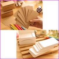 Wholesale Sheets Blank Greeting Cards Kraft Paper Message Memo Card Vintage Blank DIY Hand Painted Graffiti Card Message Card Writing Pads