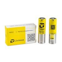 Wholesale Original battery Listman battery mAh A better than lg hg2 lg he4 battery for smok koopor primus wismec w sigelei fuchai