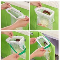 Wholesale Kitchen Hoomall Brand folding Hanging Trash Rubbish Bag Holder Garbage Rack Cupboard Storage Hanger KKA62