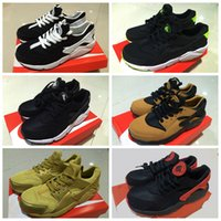 Wholesale 2016 New Air Huarache Run PA Premium Black White Knit Men s running shoes Cheap Original Air Huaraches For Men s Shoes Size