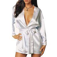 Wholesale Sexy Women Silk Satin Robe Perfect Wedding Bride Bridesmaid Night Robe Bathrobe Pajamas Gown For Women s Sexy