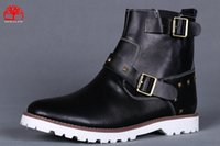 Wholesale fashional Winter colors martin Boots Brand Men Genuine Leather Waterproof martin boots Cow Leather Hiking Shoes Leisure Ankle Boots