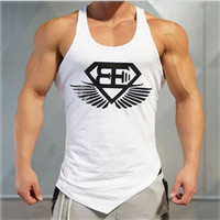 Venta al por mayor-2016 años Los chalecos de gimnasia chaleco hombres musculación músculo musculación musculación chaleco chaleco algodón camiseta Body Engineers plus size