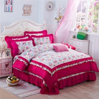 beautiful quilt patterns - 100 polyester Home textile Rose pattern fashion Beautiful bedding sets adult child bed linen Quilt Cover Bed sheet Pillowcase