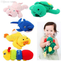 Wholesale Plush Feeding Bottle Case Baby Bottle Holder plush bottle holder Cute Animal Baby Bottle Feeder Cover Dolphin Duck Bunny Cotton
