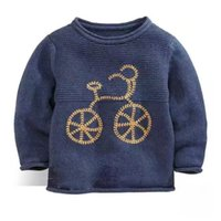 bicycle sweater - New Baby pullover sweater Boys Bicycle design Knitting Sweaters