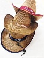bamboo yarns - Bamboo weaving straw mat sunshade hat outdoor men homburg west cowboy hat cool fashion bucket hats for men