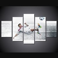 Wholesale 5 Set No Framed HD Printed Messi Football Painting Canvas Print room decor print poster picture canvas ny