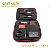 Wholesale Authentic Coil Master Kit V2 DIY Tool Kit New Coil Master Tool Kit For Rebuilding tank RDA RBA Atomizer Vape Mod