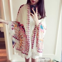 airs peacock - Indian peacock feather long cotton scarf shawl scarves female super autumn air conditioning dual use