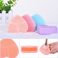 Wholesale Silicone Makeup Brush Cleaner Clean brushes Wash Brush Silica Glove Scrubber Board Cosmetic Cleaning Tools for makeup brushe