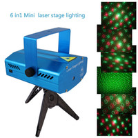 Wholesale 6 In1 V mini laser stage light bar KTV laser lights strobe stage lights disco family gatherings Stage Lighting