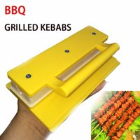 Wholesale Aicen BBQ Grill Tools Accessory Innovative Quick Skewer Rapid Wear Meat Tool Meat Skewer Machine Kebab Maker Skewering Machine Meat Grinde