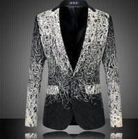 Wholesale Fashion Design Men Blazer Floral Suit Personality Casual Blazer For Men Blazer Slim Fit Jacket Men Plus Size XL XL