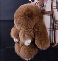 accessories of car - mink rabbits of embryonic rabbit hair bunny pendant key bag pendant dead rabbit fur accessories