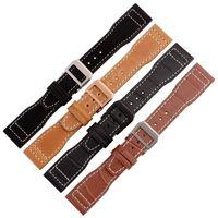 alligator skin belt - 22mm Crocodile Alligator Skin Watchband Watch Band for IWC Big Pilot Mens Belt Genuine Leather Watchband have LOGO