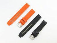 Wholesale 20mm NEW Black And Orange Diver Rubber Curved end Watch Band Strap For Omega Watch