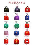batman costume mask - 15 styles Mono layer avengers Capes and mask set Iron man hulk Superhero cosplay costume batman spiderman capes and mask D656