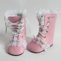 american girl doll boots - 2016 Pink PU Boots Shoes Fashion Doll accessories Very cute baby doll shoes fit for inch american girl doll